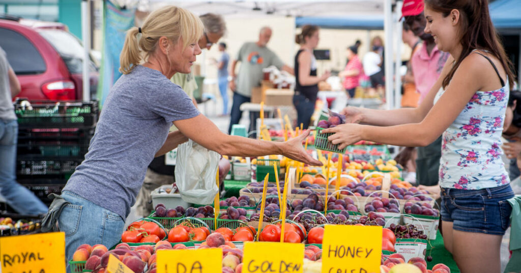 Farmers' markets in Toronto by day of the week
